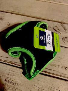 Top Paw Dog Puppy Harness Green + Black XXS