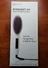 NEW InStyler STRAIGHT UP Ceramic Hair Straightening Brush With Instant Heat
