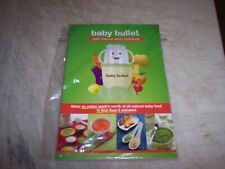 Magic Baby Bullet Blender Manual and Cookbook Replacement Part NEW Free Shipping
