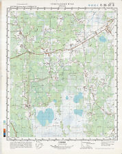 Russian Soviet Military Topographic Map – KRESTY (Russia), 1:50 000, ed. 1987