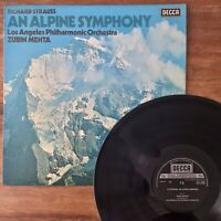 Strauss Alpine Symphony ~ Zubin Mehta LA PO (Decca SXL 6752) 1976 1st UK Vinyl