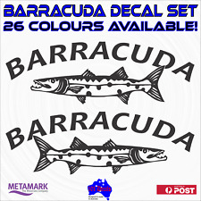 30cm BARRACUDA boat name marine decal stickers.Fishing tinny,runabout,half cabin