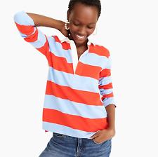 J.Crew Women's 1984 rugby shirt in stripe Bright Cerise Peri Size S item #G8325
