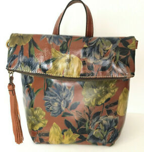 NWT Patricia Nash LUZILLE Leather Convertible Backpack/Crossbody Floral