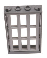 LEGO - Fenster Rahmen dunkelgrau 1x4x6 mit Gitter hellgrau / 60596 92589 NEUWARE