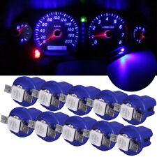 10pcs T5 B8.4D 5050 1SMD LED Dashboard Dash Gauge Instrument Light Bulbs Blue