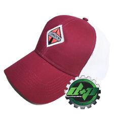 International trucks Burgundy w/ white mesh back hat ball cap truck diesel INT
