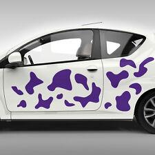 Autoaufkleber Kuhflecken Klekse Kuh Flecken Aufkleber Set Auto Dekorset #1115