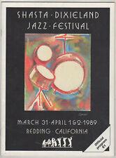 1989 Redding California Shasta Dixieland Jazz Festival Souvenir Program
