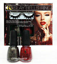 China Glaze NL - SLAY BELLS RING The Glam Finale 2 Colors .5oz + FREE LASHES