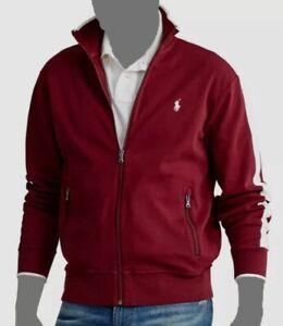 $145 Polo Ralph Lauren Red Long Sleeve Full Zip Track Jacket Big & Tall Size 4LT
