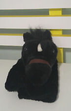 SADDLE CLUB HORSE HAND PUPPET TOY BLACK HORSE ! ABC KIDS SHOW TOY!