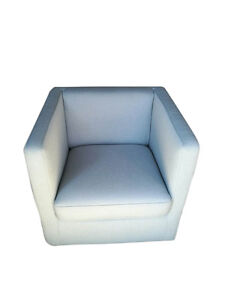 Lounge Sofa Chair Accent Fabric Tub Home Occasional Armchair Modern Swivel Aqua