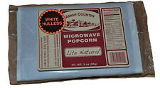 Amish Country Microwave Popcorn 10 - 3oz Bags White Hulless Lite Natural Non-Gmo