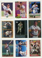 ATLANTA BRAVES HOF Baseball Card Lot - 28 Cards - MADDUX, JONES, COX, SMOLTZ