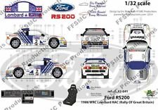 [FFSMC Productions] Decals 1/32 Ford RS 200 RAC 1986