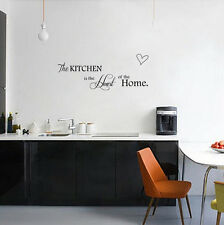 Fashion Letter Kitchen+Home PVC Removable Room Decal Art DIY Wall Sticker