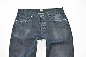 "Men's Vintage RYAN & LEWIS Button Fly Straight Blue Denim Jeans Size W33"" L31"""
