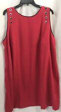 Julie Jordan Dark Pink W Black Trim Sleeveless Embellished Dress Size 22