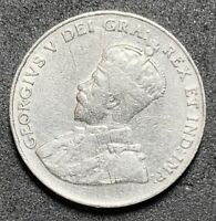 1923 Canada 5 Cents George V Nickel. (1099)