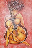 Javier Martinez TOY Acrylic on Canvas 36X24 Cuban Art Original Painting 2019