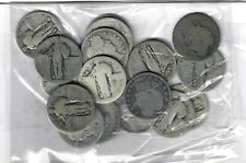 US $5.00 FACE SILVER Barber & Standing Liberty QUARTERS - 20 TOTAL