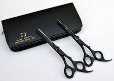 "6"" Professional Hairdressing Thining Scissors & Barber Salon Black Matte"