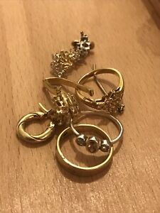 17.3 Grams Of Scrap 9ct-18ct Gold Jewellery Some Useable