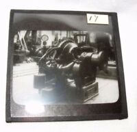 VINTAGE MAGIC LANTERN SLIDE OF STEAM MACHINERY MECHANICAL STEAMPUNK
