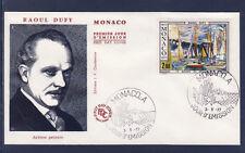 MONACO   enveloppe 1er jour  tableau  raoul  Dufy    1977