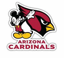 Arizona Cardinals Mickey Mouse Sticker Vinyl Decal 4-1251