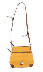 Womens Dooney & Bourke Pebble Grain Crossbody Sunset yellow Bag 243907