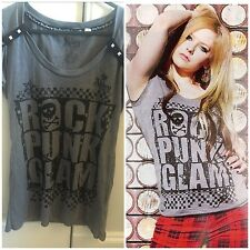 Abbey dawn avril lavigne Rock Punk Glam T-Shirt Taglia Media Grigio