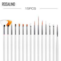 ROSALIND 15pcs/Set Nail Art Gel Design Pen PaInting Polish Brush Dotting Drawing