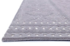 Handmade High Low Gray Modern Wool Area Rug 8' x 10'