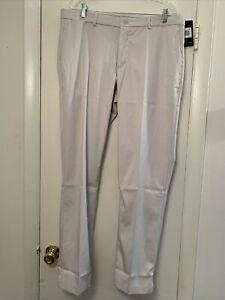 Nike Standard Fit flex golf Pants 833194-072 mens beige flat front slacks 36x32