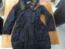 Firetrap ladies coat with detachable faux fur collar size large