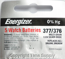 5 pcs 377 / 376 Energizer Watch Batteries SR626SW SR626 0%Hg