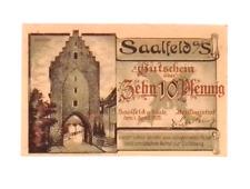 1921 Germany SAALFELD  10  Pnennig  Notgeld / Banknote