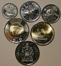 CANADA 2017 New Complete NO circulation set CLASSIC COIN BU from mint set roll
