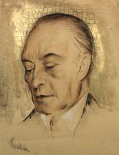 ANTON FILKUKA (1888-1957) -  KONRAD ADENAUER - Pastell/Pap.sign.dat.1953