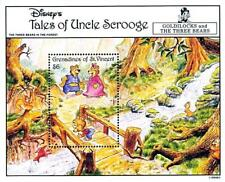 Disney = St.Vincent / Fairy Tales S/S #1 Mnh Bears, Bridge