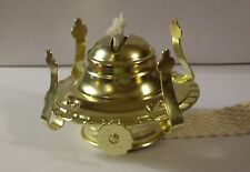 #1 BRASS PLATED OIL BURNER FOR #1 OIL KEROSENE LAMP NEW 54351J