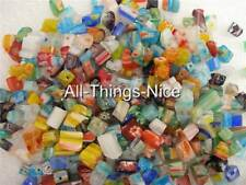 MILLEFIORI Murano Flower Glass Chip Beads Jewellery Making Craft Findings 450