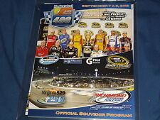2012 RICHMOND FEDERATED AUTO PART 400 NASCAR EVENT PROGRAM WITH STARTING LINE-UP