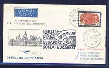 49626) DDR DH FF Berlin - Budapest 13.5.56, SoU ab Luxemburg 4F UNO