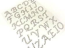 CraftbuddyUs 30X23mm StickOn Self Adhesive Clear Letter Diamnte Crystal Abc Gem