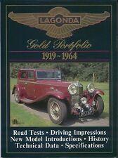 Lagonda 1919-1964 Oro Cartera Libro de los datos históricos pruebas de carretera & artices especificaciones