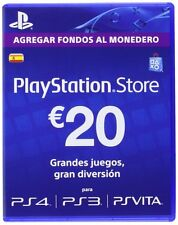 20 EUR PlayStation PSN Tarjeta Prepago 20€  20 Euro - Sony PS4 PS3 PS Vita - ES