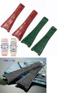 Genuine leather strap band bracelet (fits) Omega constellation Quadra 28mm